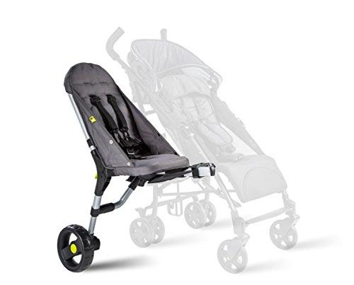 Buggypod Lite 4. Generation: Beiwagen für Kinder- und Sportwagen, passt an die meisten Kinderwagen. Anthrazit.