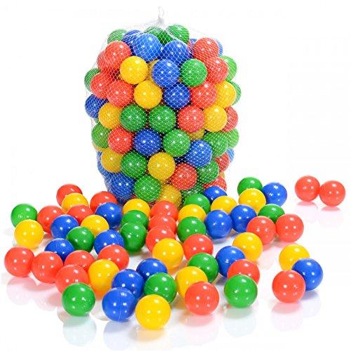LCP Kids 100 Stück Spielbälle Kinder Bällebad 6 cm Ø, Ohne Gefährliche Weichmacher (TÜV Rheinland-Prüfbericht September 2020)