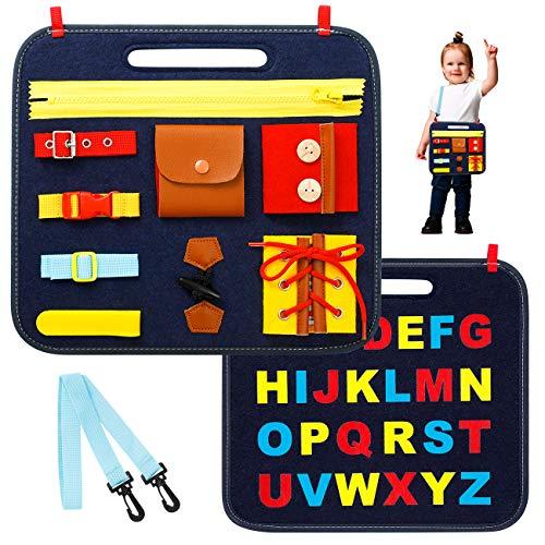 EXTSUD Lernspielzeug Montessori, Busy Board Beschäftigtes Board Aktivitätsboard Frühpädagogisches und sensorisches Spielzeug für Kleinkinder, Mädchen, Jungen