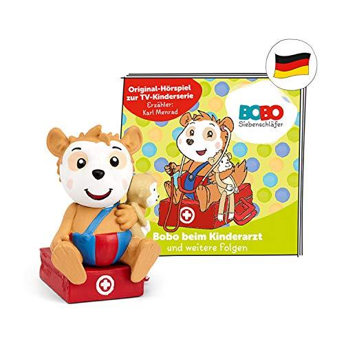 tonies Hörfiguren für Toniebox: BOBO SIEBENSCHLÄFER - Bobo beim Kinderarzt + 7 weitere Folgen - ca 46 Min. Spieldauer - ab 3 Jahre - DEUTSCH