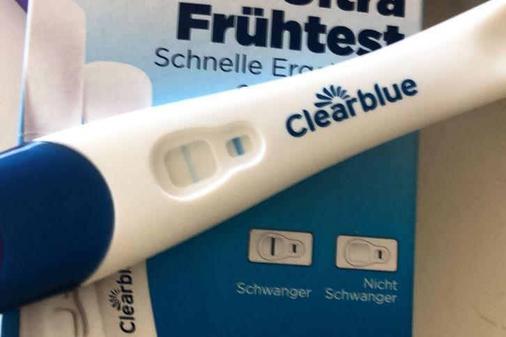 Clearblue Frühstest positiv